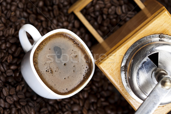 Fincan kahve canlı parlak doku gıda Stok fotoğraf © JanPietruszka