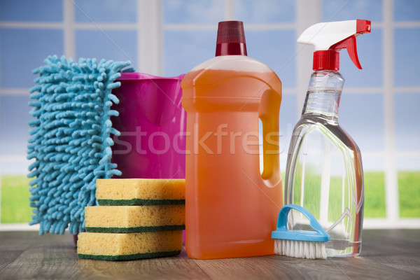 洗浄 ウィンドウ ホーム グループ ボトル ストックフォト © JanPietruszka