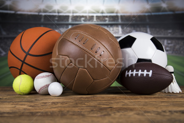 Sports balls with equipment  Stock photo © JanPietruszka
