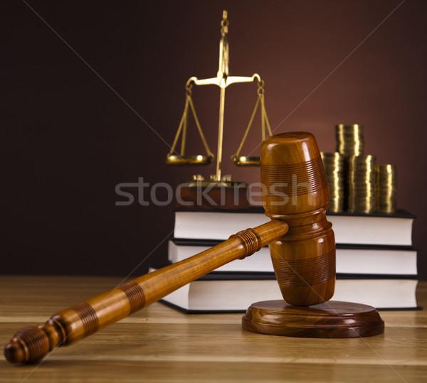 Giudice martelletto legno legge martello bianco Foto d'archivio © JanPietruszka