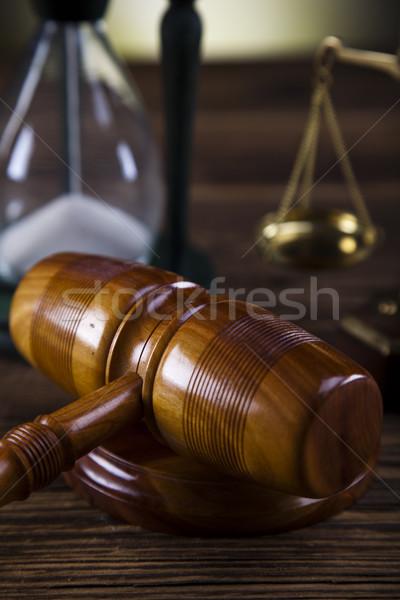 Foto d'archivio: Legge · giustizia · legno · martelletto · avvocato · giudice