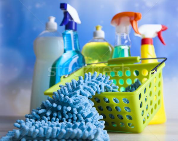 Variëteit schoonmaken werk home groep fles Stockfoto © JanPietruszka