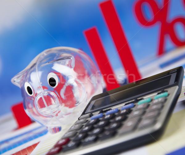 Indirim yüzde imzalamak kırmızı finanse başarı Stok fotoğraf © JanPietruszka
