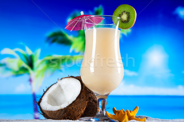 Stock photo: Exotic alcohol drinks, natural colorful tone