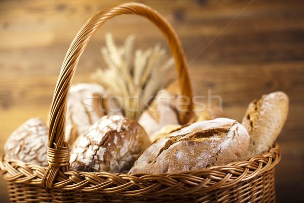 Tradycyjny chleba wiklina koszyka żywności charakter Zdjęcia stock © JanPietruszka