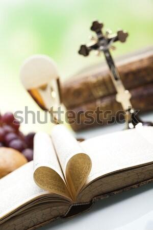 聖餐 明るい クロス イエス 教会 ストックフォト © JanPietruszka