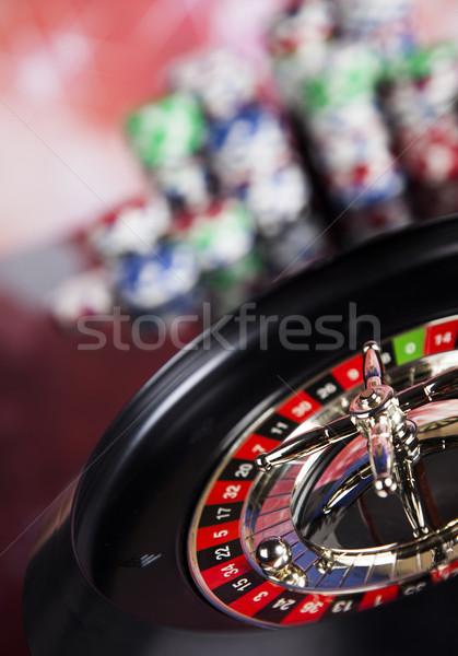 Ruleta casino jugando chips diversión Foto stock © JanPietruszka