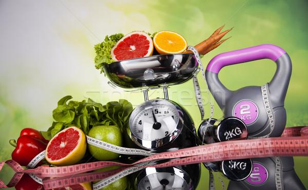 Stock foto: Frische · Lebensmittel · Maßnahme · Ernährung · Fitness · Sport