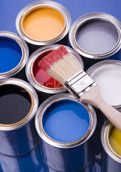 ストックフォト: 塗料 · ブラシ · 明るい · カラフル · 抽象的な · デザイン