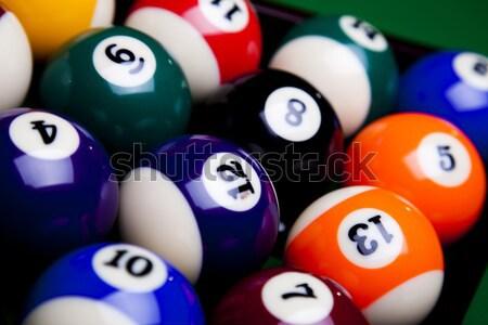 Snooker élénk színek természetes sport háttér Stock fotó © JanPietruszka