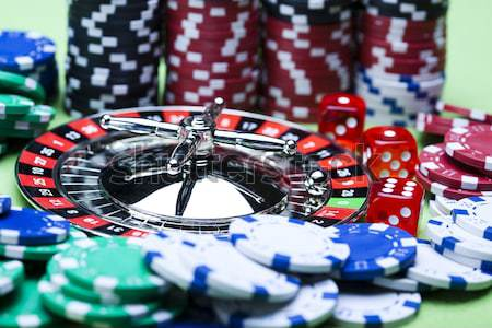 Play in the casino, ambient light saturated theme Stock photo © JanPietruszka