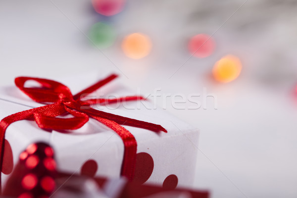 Colorful Christmas baubles, saturated home concept Stock photo © JanPietruszka