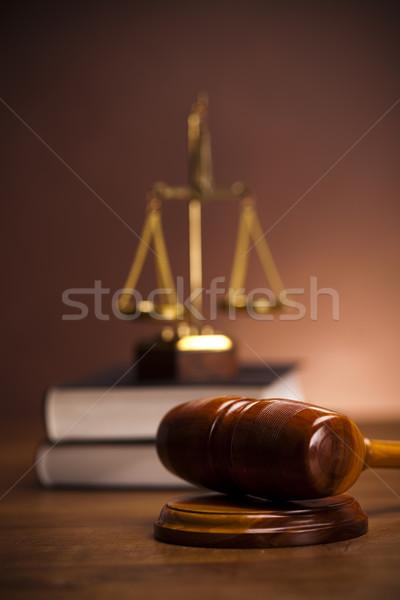 木製 小槌 法 正義 スタジオ 木材 ストックフォト © JanPietruszka