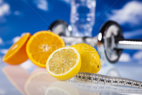 Comida medição fitness esportes energia gordura Foto stock © JanPietruszka