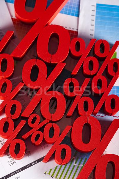Percentagem negócio assinar vermelho banco sucesso Foto stock © JanPietruszka