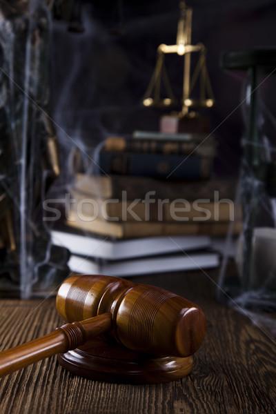 Ahşap tokmak adalet yasal avukat yargıç Stok fotoğraf © JanPietruszka