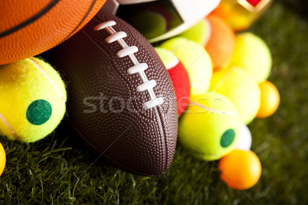 Foto stock: Deporte · primer · plano · detalle · hierba · naturales · colorido