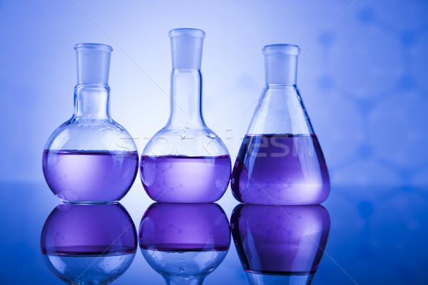 Chemical,science and laboratory glassware background Stock photo © JanPietruszka