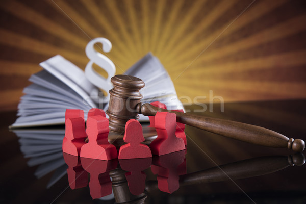 People, Court gavel,Law theme, mallet of judge Stock photo © JanPietruszka