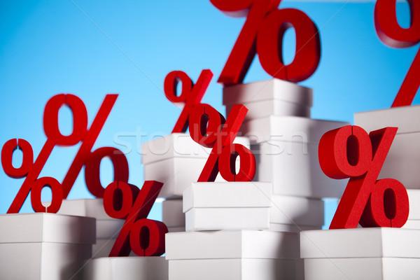 Rood percentage symbool business teken bank Stockfoto © JanPietruszka