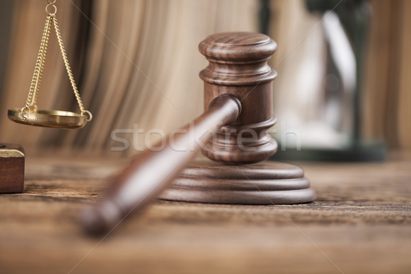Foto stock: Martillo · justicia · jurídica · ley · martillo