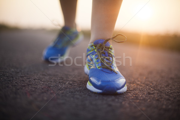 Young fitness woman running, Training and healthy lifestyle Stock photo © JanPietruszka