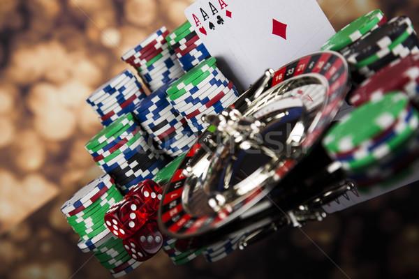 Jugando ruleta casino diversión Foto stock © JanPietruszka