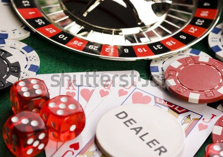 Casino and Roulette, ambient light saturated theme Stock photo © JanPietruszka