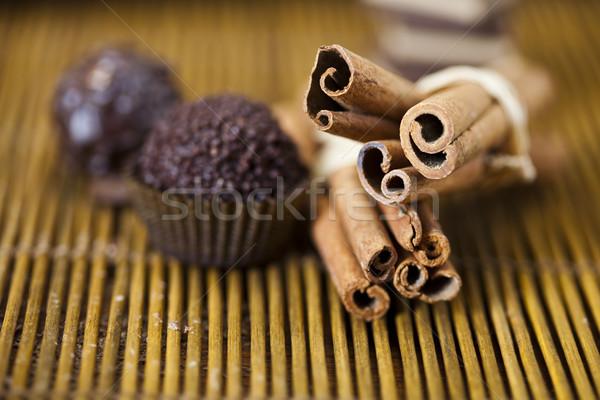Coffee, Chocolate, vivid colors, natural tone Stock photo © JanPietruszka