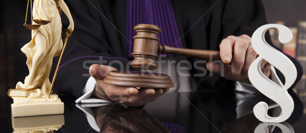 Justice and law concept. Male judge in a courtroom Stock photo © JanPietruszka