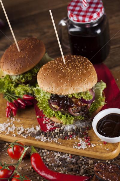 Fresco burger secretária Foto stock © JanPietruszka
