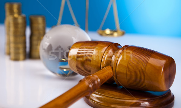 Wooden gavel barrister, justice concept  Stock photo © JanPietruszka