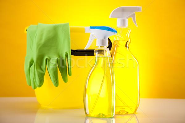Limpieza trabajo casa botella rojo Foto stock © JanPietruszka
