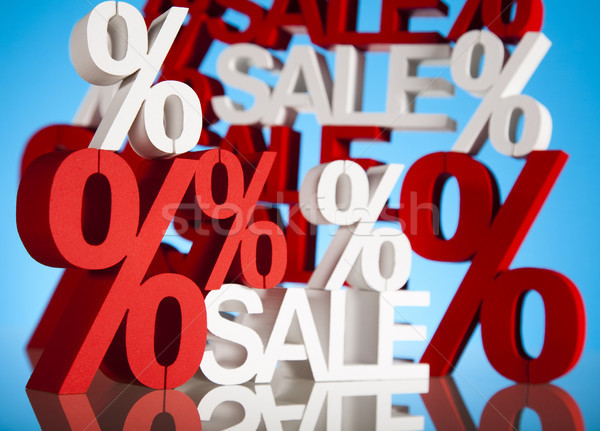 Gyűjtemény vásár árengedmény háttér vásárlás piros Stock fotó © JanPietruszka