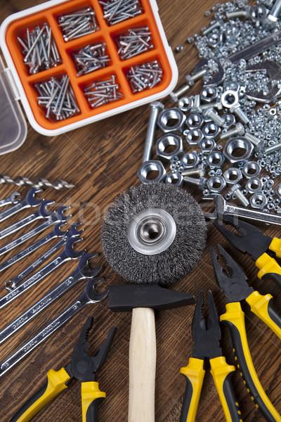 Arbeiten Werkzeuge Holz Hand Arbeit Arbeitnehmer Stock foto © JanPietruszka