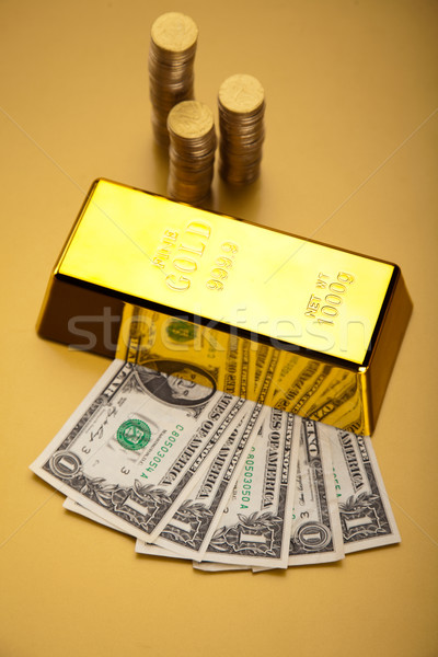 Money, coins and gold, ambient financial concept Stock photo © JanPietruszka
