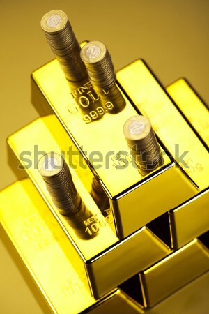 Stock photo: Diamond and gold, ambient financial concept