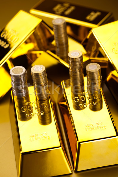 Golden Bars, ambient financial concept Stock photo © JanPietruszka