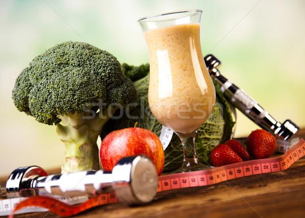 Fitness Cocktail, healthy and fresh Stock photo © JanPietruszka