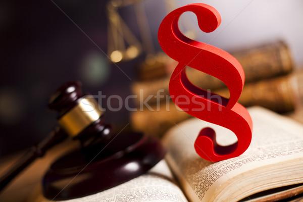 正義 段落 木材 弁護士 裁判官 犯罪 ストックフォト © JanPietruszka