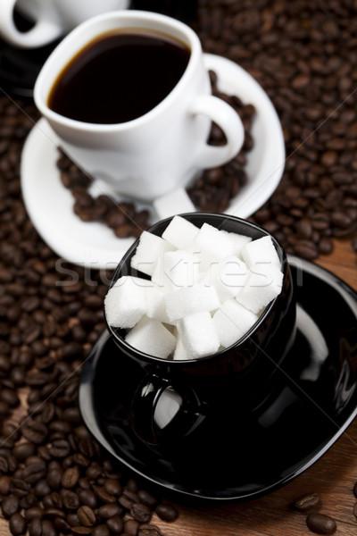カップ 豆 コーヒー 白 食品 フレーム ストックフォト © JanPietruszka