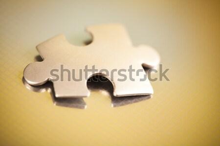 Internet szimbólumok modern hálózat üzletember puzzle Stock fotó © JanPietruszka