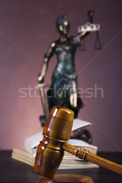 Весы правосудия прав студию женщину небе Сток-фото © JanPietruszka