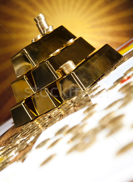 Pyramid from Gold Bars Stock photo © JanPietruszka