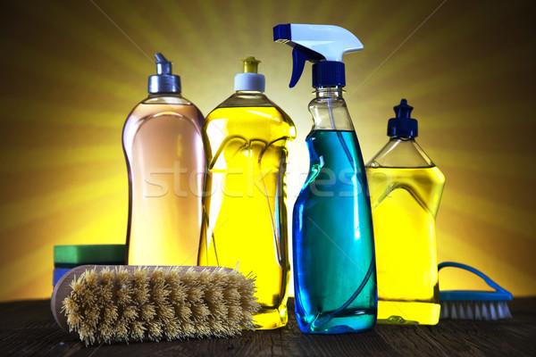 Photo stock: Produits · de · nettoyage · soleil · travaux · maison · bouteille · Ouvrir · la
