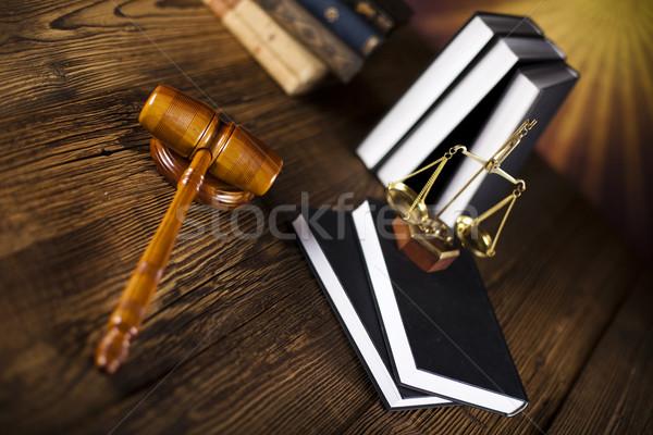 молоток прав Весы адвокат судья Сток-фото © JanPietruszka