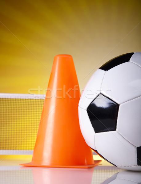 Soccer ball and sunshine Stock photo © JanPietruszka