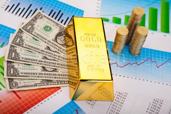 Złota wartość finansowych ceny metal banku Zdjęcia stock © JanPietruszka