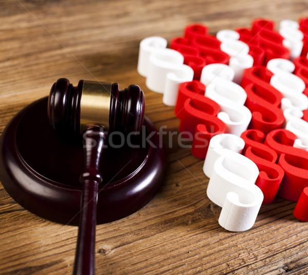 裁判官 木製 小槌 段落 木材 正義 ストックフォト © JanPietruszka