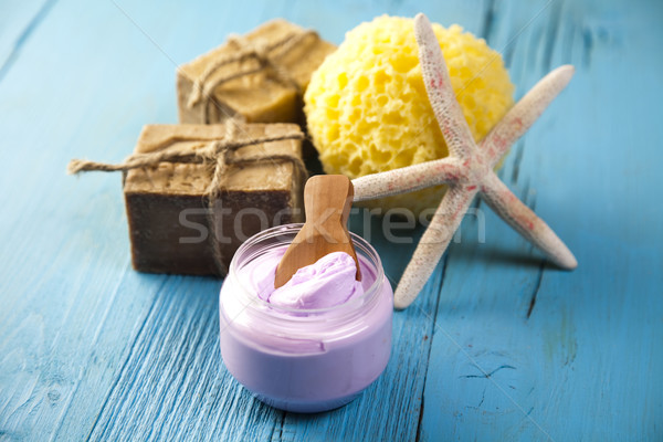 Spa organisch producten vers badkamer douche Stockfoto © JanPietruszka